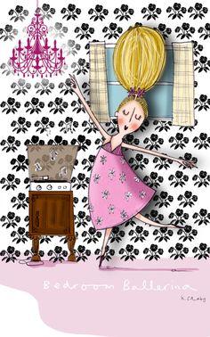 Bedroom Ballerina - KellyCanby #illustration Kids Rugs, Illustration, Inspiration, Ballerina, Bedroom, Home Decor, Art, Illustrations, Biblical Inspiration
