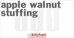 Apple Walnut Stuffing from CDKitchen.com