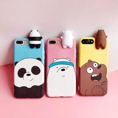 Diy Phone Case 616641373964066279 - Cartoon Animals Cute We Bare Bears Soft Silicone Case Cover Skin For iPhone Source by 3d Iphone Cases, Diy Phone Case, Cellphone Case, Iphone Charger, Cell Phone Covers, Smartphone, We Bare Bears, Cute Cases, Cute Phone Cases