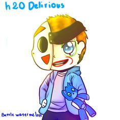battlewatermelon: nothing here  just drawing my favorite youtuber ever  h2O delirious