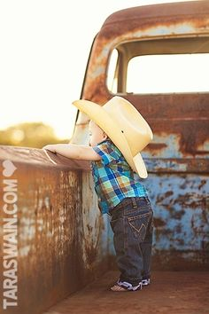 This little man is too cute! | Photo by taraswain.com  Looks like a future cowboy in the Mormon Pioneer National Heritage Area!