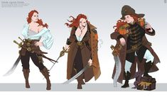 character and costume design, terry wei Female Character Concept, Character Poses, Character Costumes, Character Portraits, Fantasy Character Design, Character Inspiration, Character Art, Character Ideas, Pirate Art