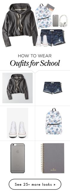 """ugh back to school already??!?!"" by creationsbycristina on Polyvore featuring Abercrombie & Fitch, American Eagle Outfitters, Mulberry, Converse, Disney, Native Union and Beats by Dr. Dre"