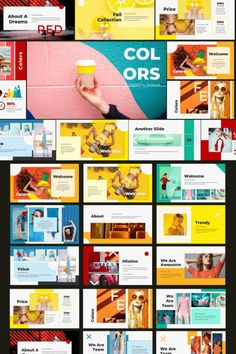 Colors PowerPoint Template - Keynote - Ideas of Keynote - Colors PowerPoint Template Template Brochure, Powerpoint Design Templates, Design Brochure, Keynote Template, Template Web, Flyer Template, Keynote Design, Ppt Design, Slide Design