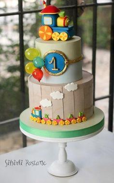 Twitter Train cake