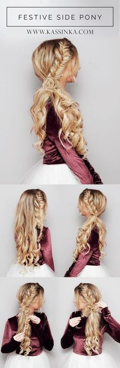 Pretty Braided Crown Hairstyle Tutorials and Ideas / http://www.himisspuff.com/easy-diy-braided-hairstyles-tutorials/57/