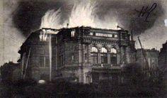 1912-décembre le 19-incendie du théatre de la Renaissance Vue prise vers les 7h-7h30 du matin