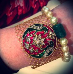 Green and red embellishments