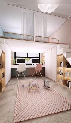 Small Room Design Bedroom, Small House Interior Design, Teen Bedroom Designs, Room Ideas Bedroom, Home Room Design, Jugendschlafzimmer Designs, Design Ideas, Home Decor Furniture, Furniture Design
