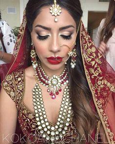 @kokoandchanel: My stunning Indian Bride❤️ @deepikaxchopra MU by #kokoandchanel Hair by @amberleebeauty