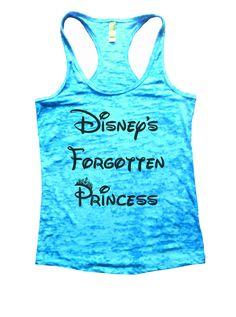 Disney's Forgotten Princess Burnout Tank Top By Funny Threadz - 804