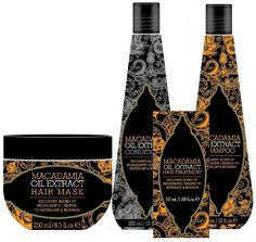 Macadamia Natural Oil Extract LARGE Gift Set - Mask Shampoo Conditioner Oil