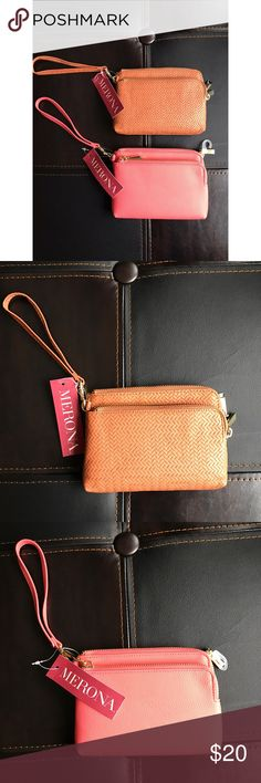 •Merona Wallet• You pick your color! Cognac or coral! I have 3 coral and one cognac! NWT! ❤❤ Merona Bags Clutches & Wristlets