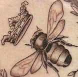 I want a napoleonic bee tattoo.     Tattoosday (A Tattoo Blog): The Tattooed Poets Project: Rebecca Loudon's Bee Tattoo