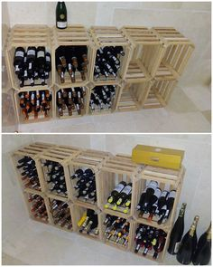 This is overall an excellent creation for your house wine bar that is magnificently created through the wood pallet impact all over. It do favor the use of wine rack arrangement where you can set the best arrangement of the wine bottles for your guests.