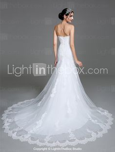 c5b0a714134 2017 Lanting Bride® Trumpet   Mermaid Wedding Dress Court Train Sweetheart  Tulle with Appliques 2017