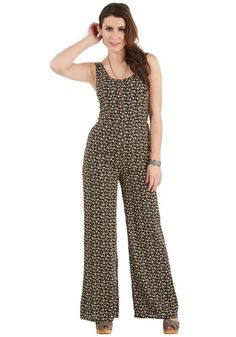 Picky Cruisey Jumpsuit. As particular as you are when it comes to vacation-worthy attire, this breezy black jumpsuit easily meets all of your Caribbean-bound requirements! #black #modcloth