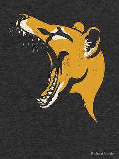 'Tasmanian Tiger stencil' Lightweight Sweatshirt by Richard Morden Tiger Stencil, Animal Stencil, Tiger Tattoo, Tattoo Art, Linocut Artists, Tasmanian Tiger, Tiger Art, Extinct Animals, Cryptozoology