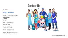 Get the expert cleaning services in London. Read More about us  : http://www.topcleaners.uk/about-us