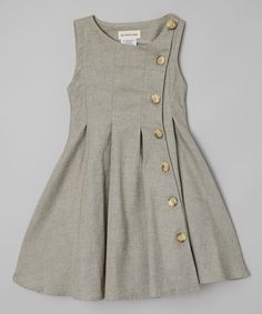 This Le Bees Knees Green Rose Button-Up Dress - Toddler by Le Bees Knees is perfect! #zulilyfinds