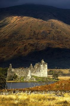 photo scenery Kilchurn Castle, Scotland art print by John Short.Our art prints are produced on acid-free papers using archival inks to guarantee that they last a lifetime without fading Scotland Castles, Scottish Castles, Beautiful Castles, Beautiful Places, Oh The Places You'll Go, Places To Visit, Château Fort, Castle Ruins, Medieval Castle