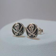 FashionJunkie4Life - Sterling Silver Pirate Skull Post Earrings, $16.00 (http://www.fashionjunkie4life.com/sterling-silver-pirate-skull-post-earrings/)