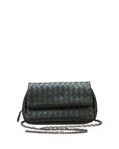 Bottega Veneta Intrecciato Small Chain Crossbody Bag. Napa LeatherChain ... 89189109d1