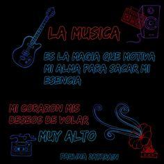 La música despierta mi esencia la música es mi magia en mi corazón….