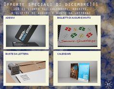 Offerte speciali per il mese di dicembre! 10% sconto sui calendari, biglietti di auguri, adesivi e buste da lettera