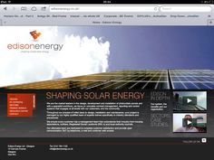 Home page for new website and brand creation. see more at www.edisonenergy.co.uk