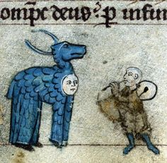 Deer costume, book of hours, Flanders 14th century (Baltimore, The Walters Art Museum, W.88, f. 115v)