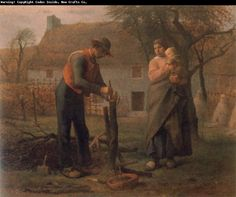 Jean Francois Millet - Peasant Grafting a Tree