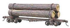 Kadee Skeleton Log Car Kit with Logs, HO Scale