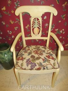 Ethan Allen Legacy Pineapple Arm Chair. EARTHJUNK - USA's Largest Dealer of Used Ethan Allen. Cosmetically, it has the minor scratches, rubs, and areas associated with careful use. This chair is as near new as one could expect for used furniture!   eBay!