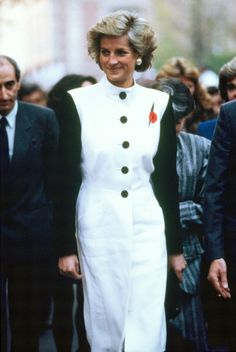 Diana Princess of Wales at the Pasteur Institute during her official visit to France on November 8 1988 in Paris France