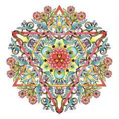 Mandala adulto da colorare stella di David di emerlyearts