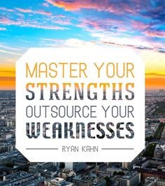 Master Your Strengths. Outsource Your Weaknesses. - Ryan Kahn  ** Mizbooks Media can help! **