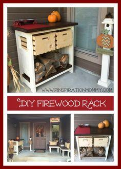 DIY Firewood Rack and Kindling Storage