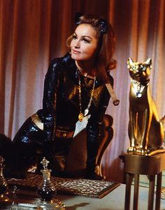 Julie Newmar as Catwoman... the prototype for the tastes I developed in women. Sorry. Ha ha.
