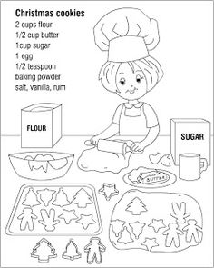 Nicoles Free Coloring Pages Christmas Cookies