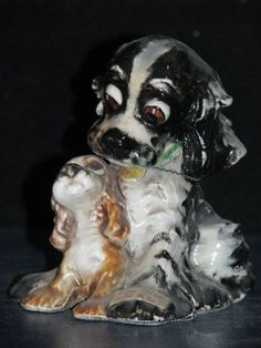 """+*A015938_06 Goebel  Archivmuster STAEHLE Cocker Spaniel """"Father and Son"""" TMK3"""