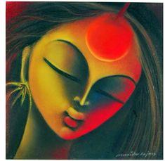 Durga Painting, Dot Art Painting, Painting & Drawing, Soft Pastel Art, Watercolor Clouds, Pottery Pots, Clay Wall Art, Cuban Art, Anime Girl Drawings