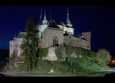Built on a hill above the town of Bojnice in Slovakia, the Bojnice Castle was declared a national and cultural monument in 1970. Originally, the fortress was built from wood, but was rebuilt in stone during the 13th century. Several films have been shot at the castle, including Italian fantasy film Fantaghiro. Many modern fairy-tale palaces have also taken inspiration from its architecture.