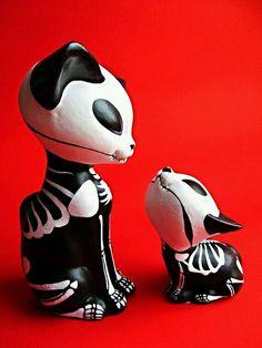 Dia de los muertos cats on Etsy