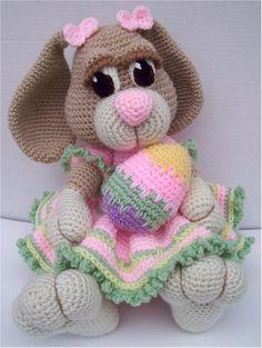 In this article we will introduce you the best models of amigurumi crochet dog patterns. Crochet Bunny Pattern, Crochet Rabbit, Crochet Bear, Cute Crochet, Crochet Animals, Crochet Crafts, Crochet Dolls, Crochet Style, Crochet Dog Patterns
