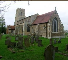 St Mary's Church, Combs, Suffolk, England. A church was here in at least 1086. The present structure present since 1300, with many rebuildings, additional, etc. My Lockwood ancestors were most likely baptized here 1600s and earlier.