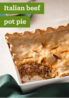 Italian Beef Pot Pie — Oven-ready after just 20 minutes of prep, your family is sure to enjoy this tasty dish recipe every time you make it.