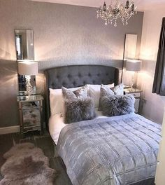 dream rooms for women - dream rooms . dream rooms for adults . dream rooms for women . dream rooms for couples . dream rooms for adults bedrooms . dream rooms for girls teenagers Gray Bedroom, Home Decor Bedroom, Master Bedroom, Teen Bedroom, Modern Bedroom, Bedroom Furniture, Budget Bedroom, Furniture Design, Contemporary Bedroom