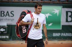 Roger Federer arrived in Paris! / Roger Federer est arrivé à Paris ! ©FFT/CD