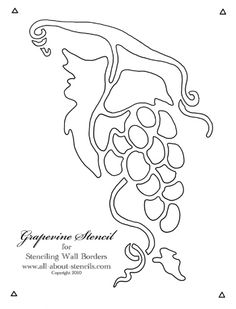 Free Grapevine Stencil and a Stenciling Wall Borders Project Video